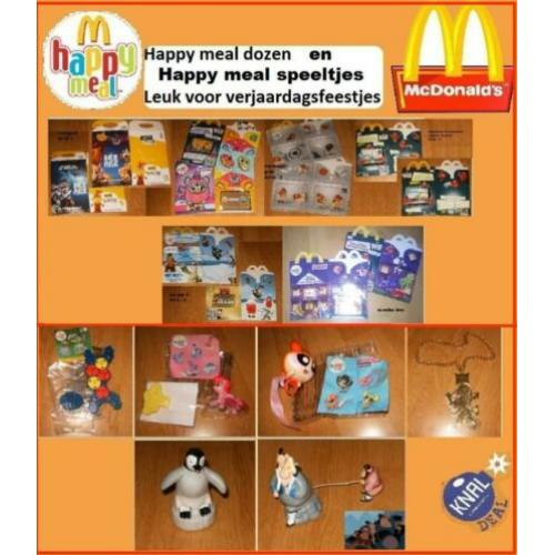 Happy meal speeltjes / dozen van mc donalds